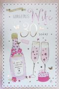 Gorgeous Wife 30th Birthday Card